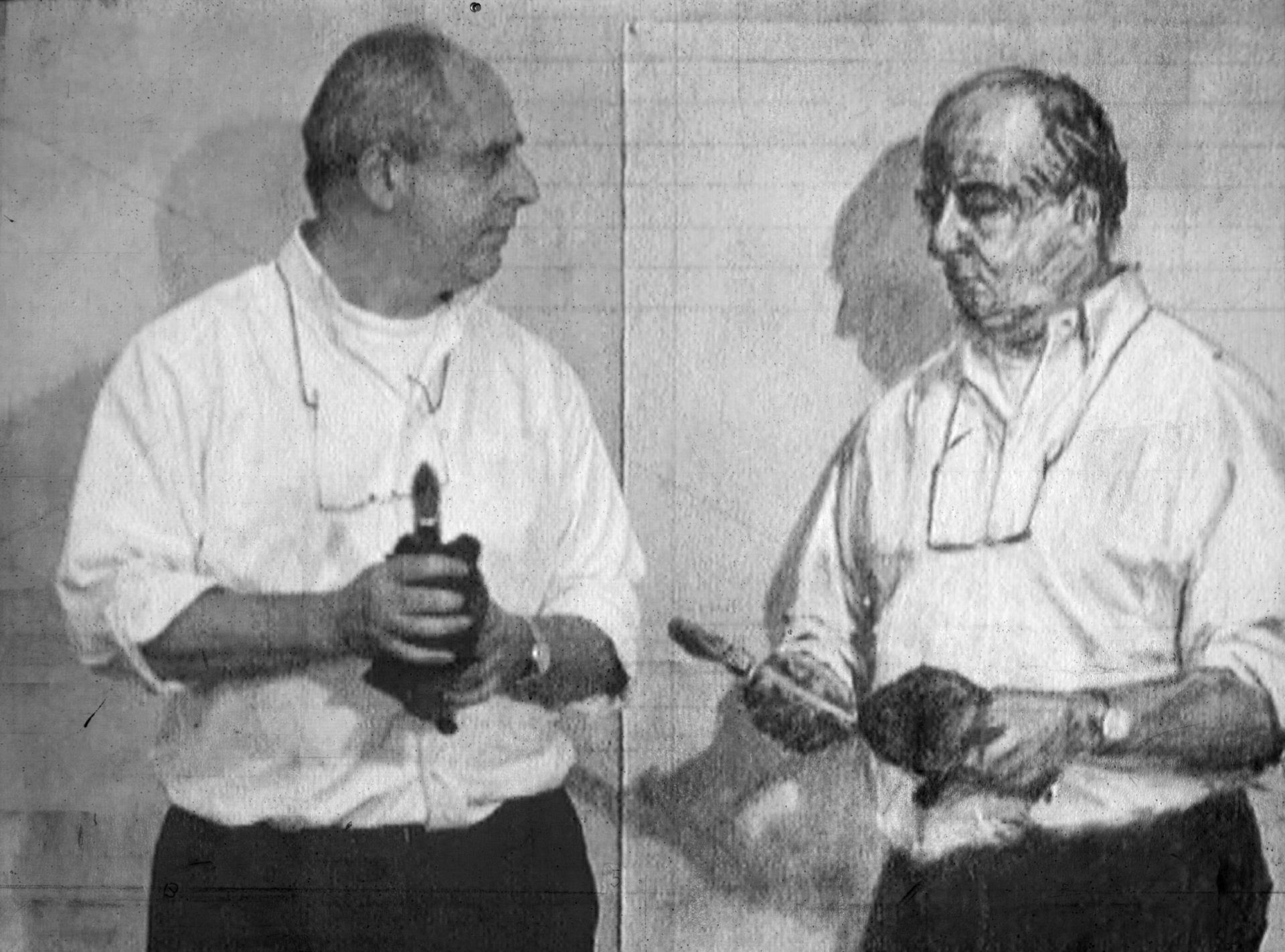William Kentridge. Video still from Invisible Mending, 2003