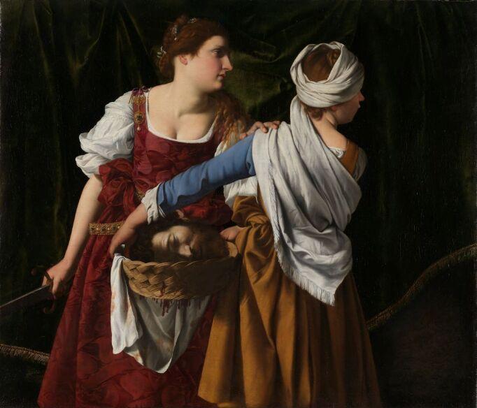 Artemisa Gentileschi, Orazio Gentilesch. Judit og tjenestekvinnen med Holofernes' hode, ca. 1608. CCBY/Nasjonalmuseet