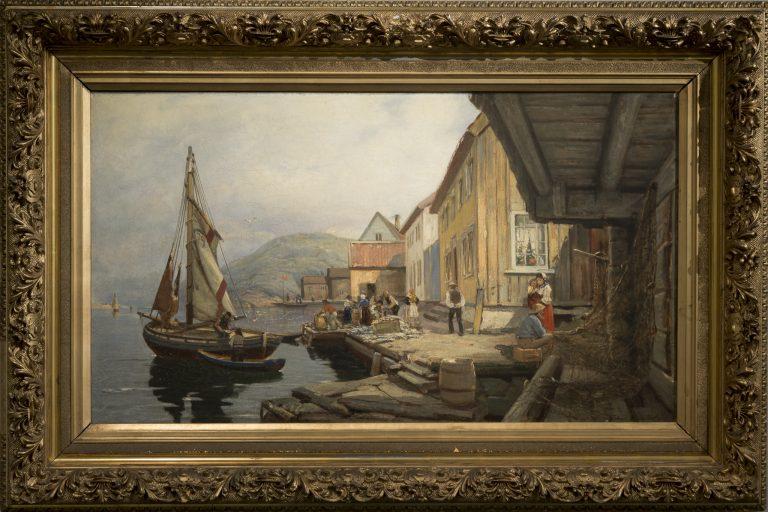 Sørlandets Kunstmuseum. Kunstsilo. Johan Martin Nielssen, Fra Svinør / From Svinør, 1882, oil on canvas