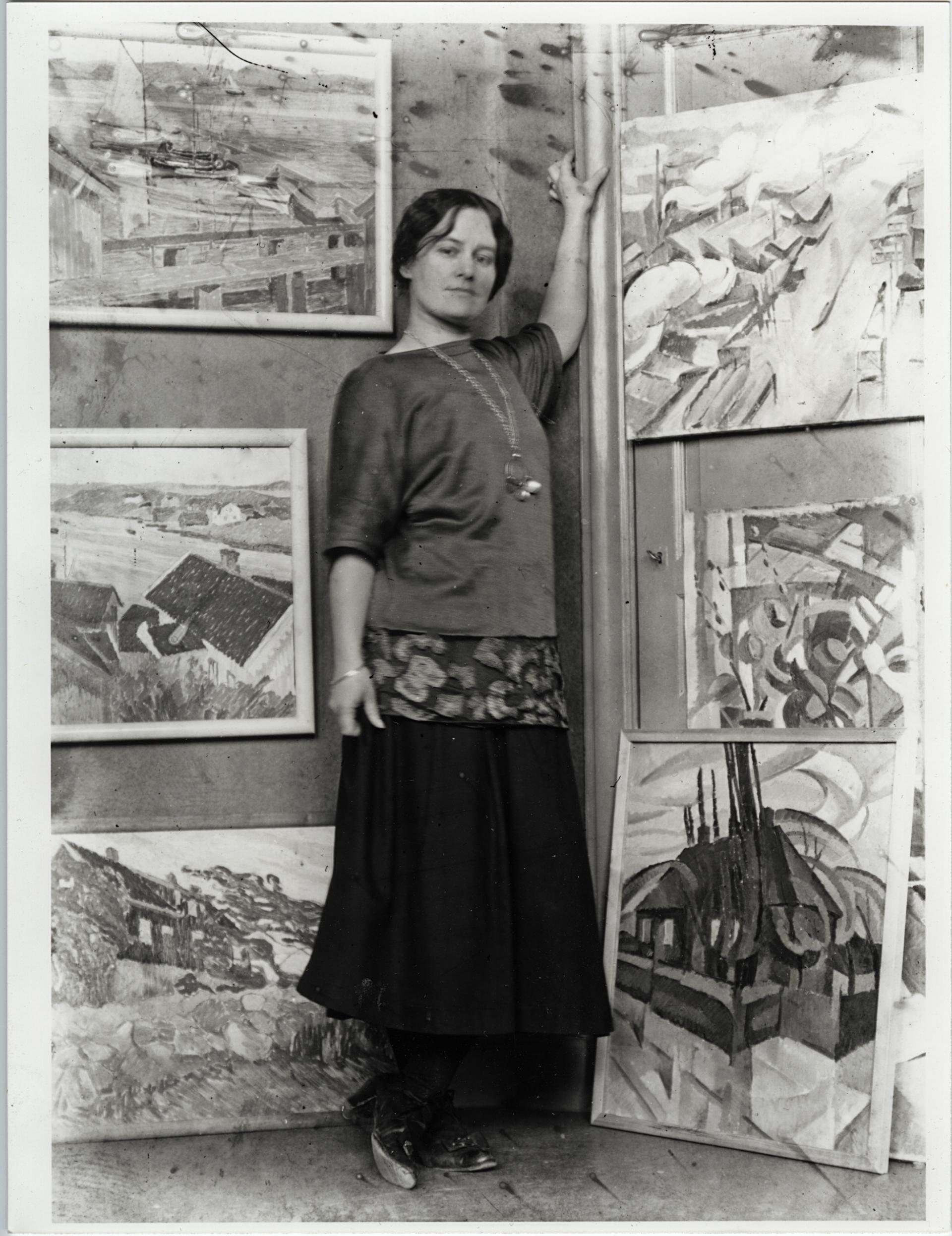 Tangen-samlingen nordisk modernismen, Modernismens Pionerer. Agnes Cleve, 1917. foto: privat