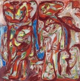 """Asger O. Jorn. """"Myr og mo"""", 1950-1952"""