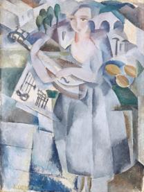 Siri Derkert. Mandolinspelande flicka,1915.