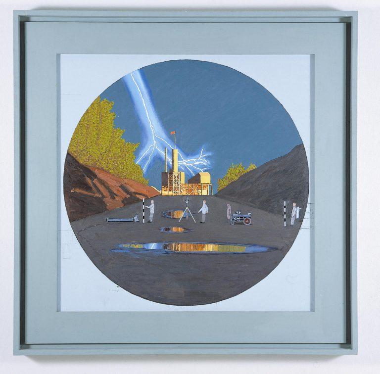 Leonard Rickhard, Lynnedslaget Asfaltverket / Lightning Strike Asphalt Plant, 2003-04, oil on canvas