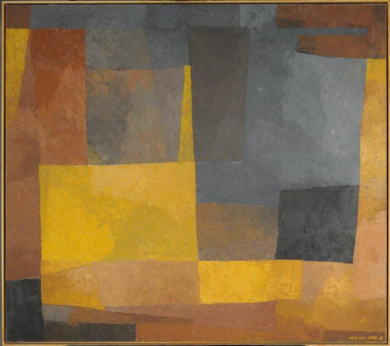 Tangen-samlingen. Irma Salo Jæger, Gyldent / Golden, 1962, oil on canvas