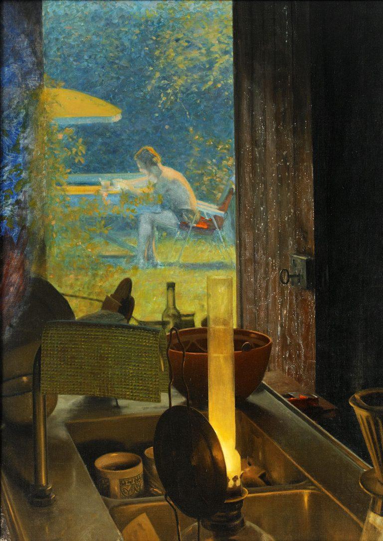Tangen-samlingen. Sørlandets Kunstmuseum. Kunstsilo. Ola Billgren, Sommar / Summer, 1969, oil on canvas