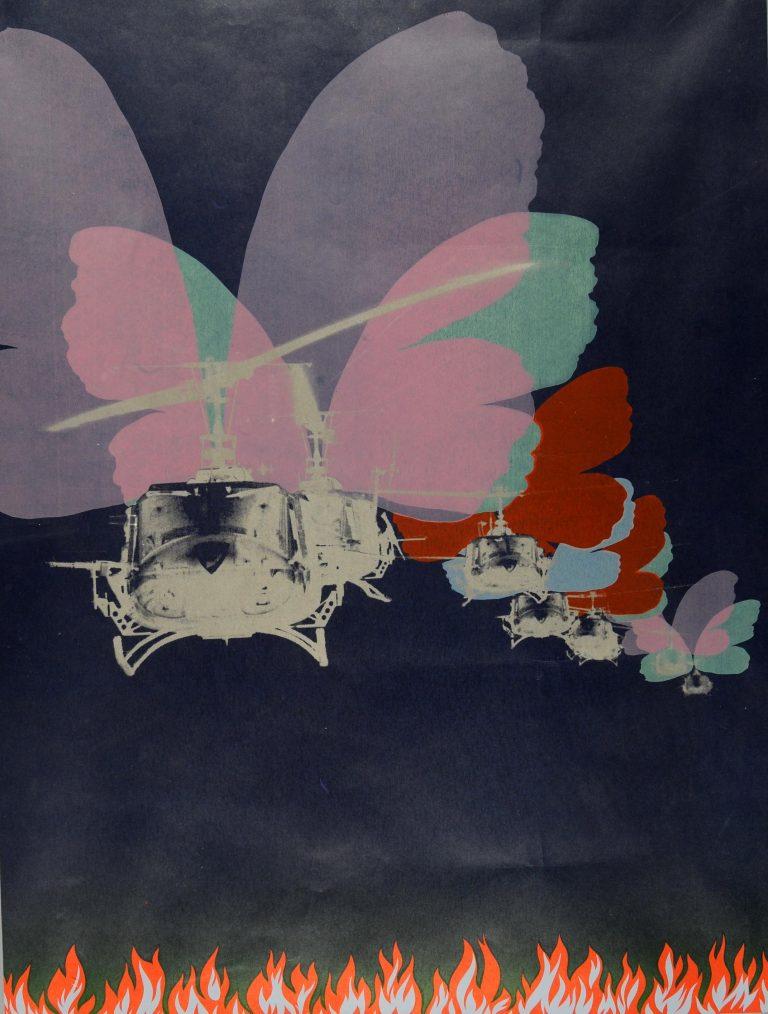 Tangen-samlingen. Sørlandets Kunstmuseum. Kunstsilo. Per Kleiva, Amerikanske sommarfuglar / American Butterflies, 1971, serigraphy