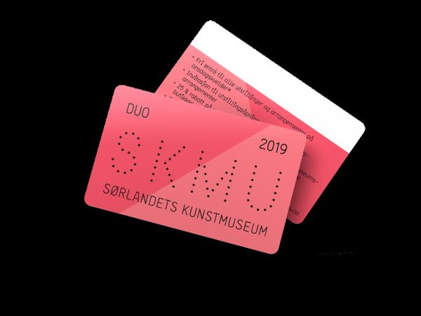 Kunstmuseets Medlemskort for to i 2019
