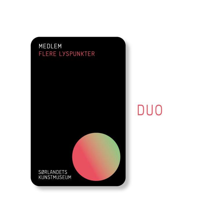 Sørlandets Kunstmuseum Medlem DUO