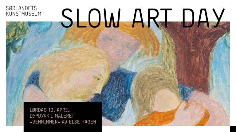 Slow Art Day: Dypdykk i maleriet «Venninner» av Else Hagen