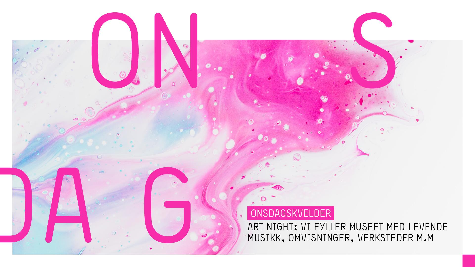 artnight sørlandets kunstmuseum omvisninger opplevelser konserter verksted