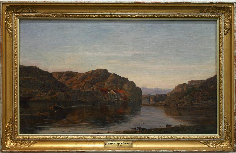 Sørlandets Kunstmuseum. Kunstsilo. Amaldus Nielsen, Morgen i Ny-Hellesund / Morning in Ny-Hellesund, 1881, oil on canvas