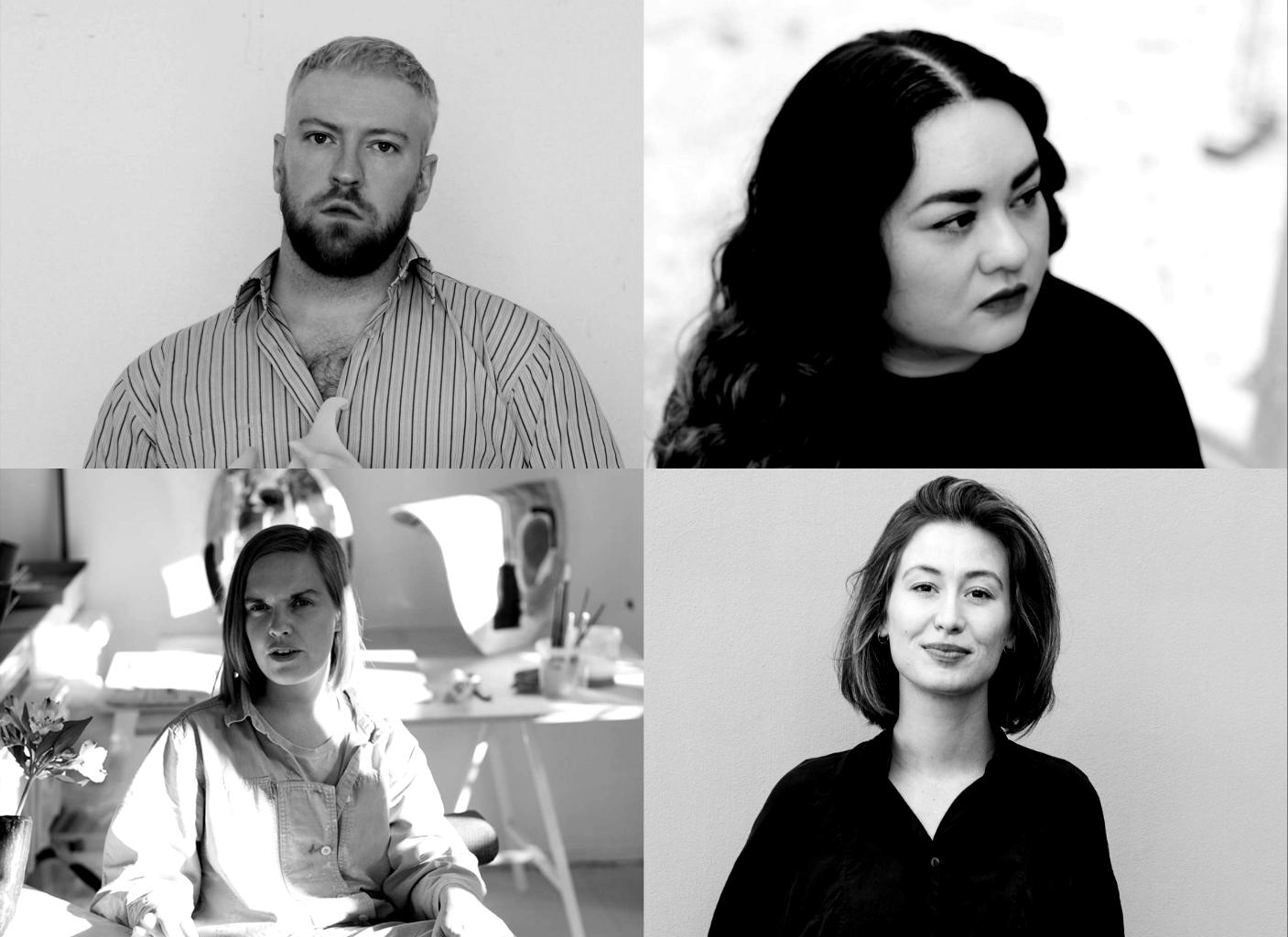 sparebanken sør kunstnerpris 2020. Nominerte kunstnere: Johanne Hestvold, Tim Høibjerg, Perla Pigao, Marthe Elise Stramrud. sørlandets kunstmuseum 15.10 - 22.11 2020.