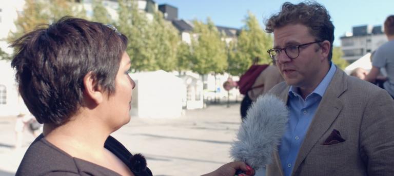 Arendalsuka prat om Kunstsilo Melissa Lesamana og Espen Hauglid om Kunstsilo