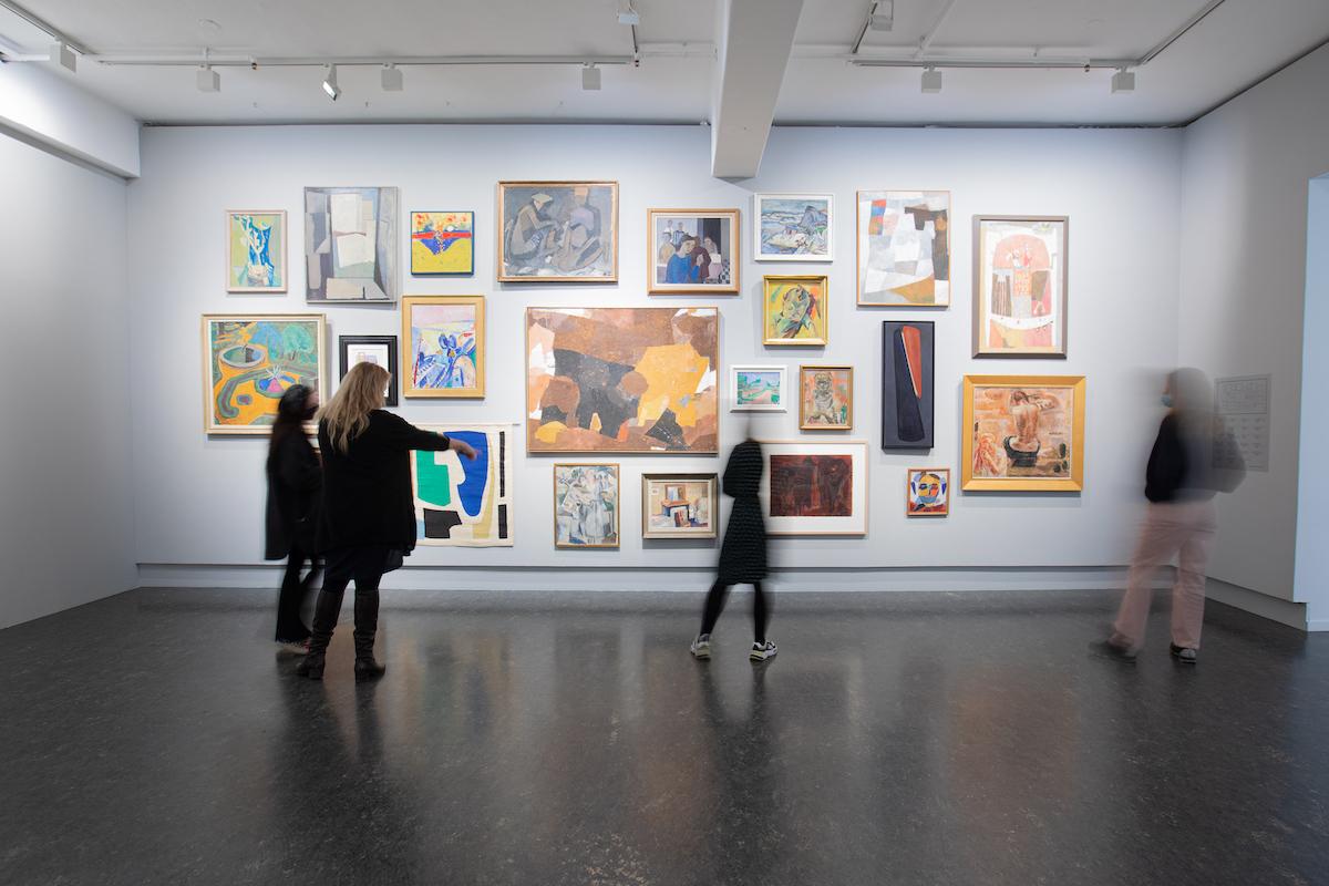 Modernismens Pionerer. Utvalg fra Tangen-samlingen. Installasjonsfoto: Håvard Anthonsen
